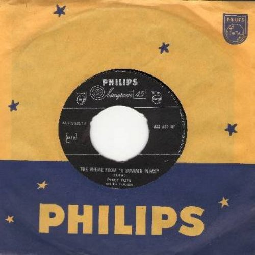 Faith, Percy & His Orchestra - Theme From A Summer Place (NL) (1# on US Pop Charts for 10 weeks in 1960!)/Go-Go-Po-Go (Dutch Pressing with Philips company sleeve and juke box label) - NM9/ - 45 rpm Records