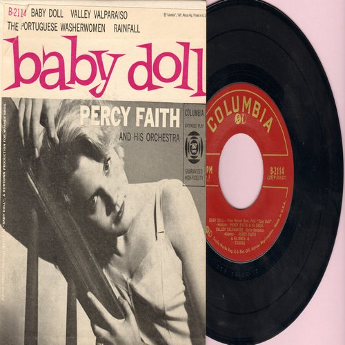 Faith, Perfect & His Orchestra - Baby Doll/Valley Valparaiso/The Portuguese Washwomen/Rainfall (vinyl EP record with picture cover) - NM9/NM9 - 45 rpm Records