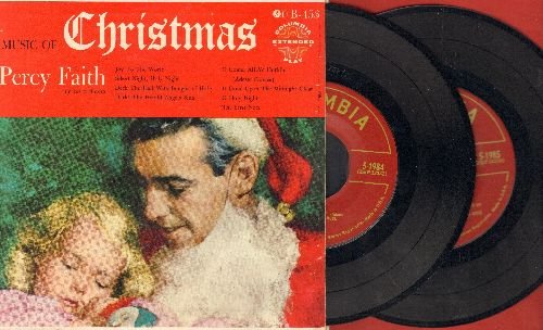 Faith, Percy - Music Of Christmas - 2 vinyl EP records in gate-fold cover, 8 Classic Christmas Songs! - NM9/NM9 - 45 rpm Records