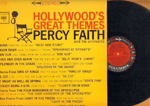 Faith, Percy & His Orchestra - Hollywood's Great Themes: Moon River, I Enjoy Being A Girl, Ben Hur, Splendor In The Grass, El Cid, Maria (Vinyl STEREO LP record) - NM9/EX8 - LP Records