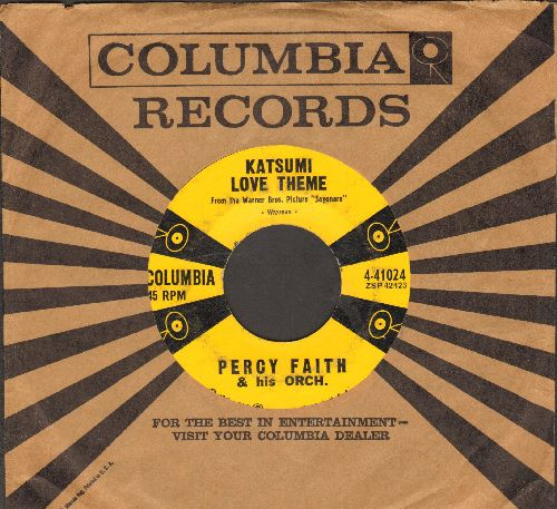 Faith, Percy & His Orchestra - Katsumi Love Theme (from film -Sayonara-)/Never Till Now (with Columbia company sleeve) - EX8/ - 45 rpm Records