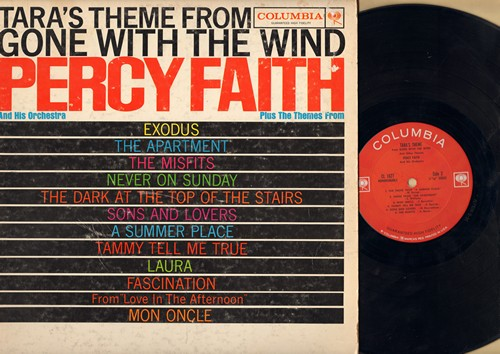 Faith, Percy & His Orchestra - Tara's Theme from -Gone With The Wind- Plus other Themes: Never On Sunday, A Summer Place, Tammy, The Misfits, The Apartment, Fascination, Mon Oncle, Exodus (Vinyl MONO LP record) - EX8/VG7 - LP Records