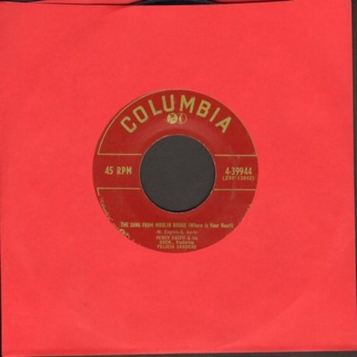 Faith, Percy & Felicia Sanders - Song From Moulin Rouge (Where Is Your Heart?)/Swedish Rhapsody (Midsummer Vigil) - EX8/ - 45 rpm Records