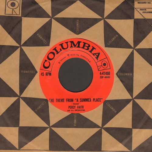 Faith, Percy & His Orchestra - Theme From A Summer Place (1# on US Pop Charts for 10 weeks in 1960!)/Go-Go-Po-Go (with Columbia company sleeve) - EX8/ - 45 rpm Records