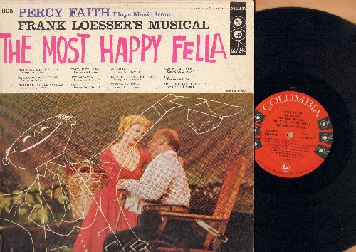 Most Happy Fella - The Most Happy Fella - Frank Losser's Musical starring Robert Weede. Includes the hit Standing On The Corner (Vinyl MONO LP record) - EX8/EX8 - LP Records