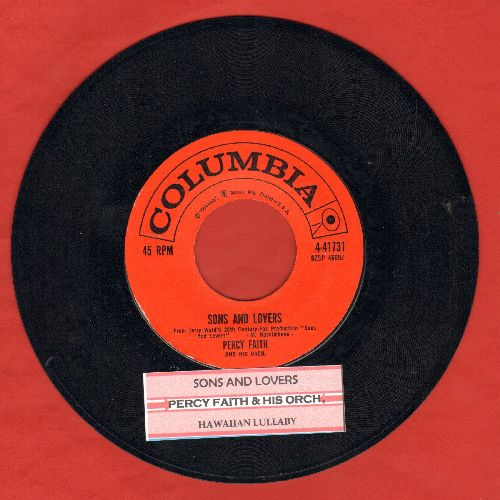 Faith, Percy - Sons And Lovers/Hawaiian Lullaby (with juke box label) - NM9/ - 45 rpm Records