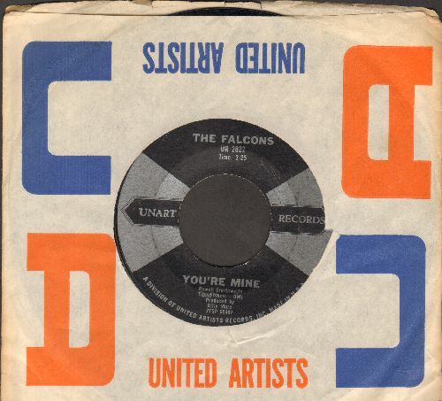 Falcons - You're Mine/Country Shack (with RARE vintage United Artists company sleeve) - EX8/ - 45 rpm Records