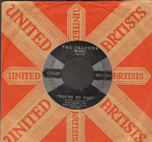 Falcons - You're So Fine/Goddess Of Angels (with RARE vintage United Artists company sleeve) - VG7/ - 45 rpm Records