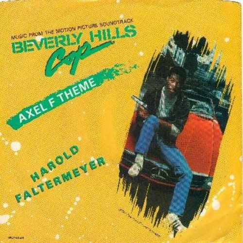 Faltermeyer, Harold - Axel F (From film 'Beverly Hills Cop')/Shoot Out (with picture sleeve) - NM9/EX8 - 45 rpm Records