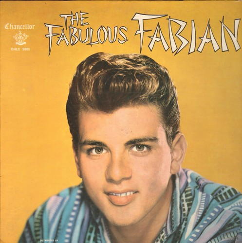 Fabian - Fabulous Fabian: You Excite Me, I'm Sincere, Gimme A Little Kiss, Remember Me, Ain't Misbehavin', You'll Never Tame Me (vinyl MONO LP record, with scrap-book page!) - EX8/NM9 - LP Records