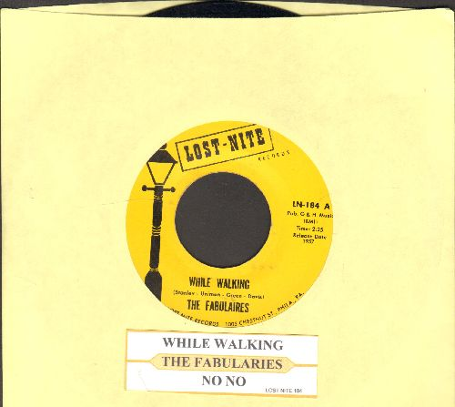 Fabulaires - While Walking/No No (double-hit re-issue of vintage Doo-Wop recordings, with juke box label) - NM9/ - 45 rpm Records