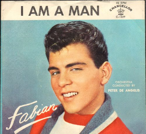 Fabian - I'm A Man/Hypnotized (with RARE picture sleeve with -I AM A MAN- printed as title!) - NM9/EX8 - 45 rpm Records