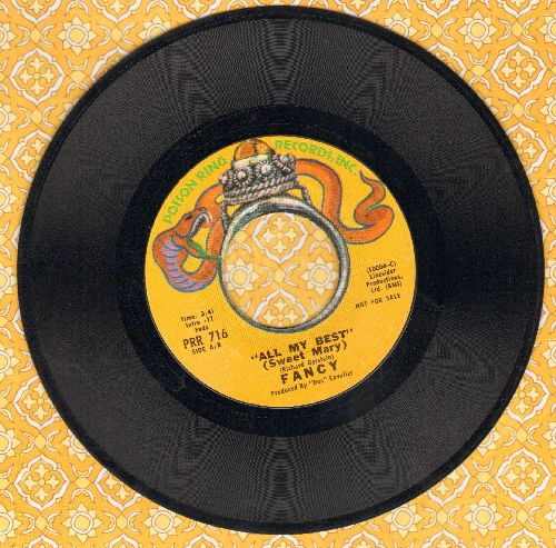 Fancy - All My Best (Sweet Mary) (double-A-sided DJ advance pressing) - EX8/ - 45 rpm Records