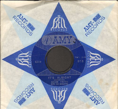 Faith, Adam - It's Alright/I Just Don't Know (with vintage Amy company sleeve) - NM9/ - 45 rpm Records