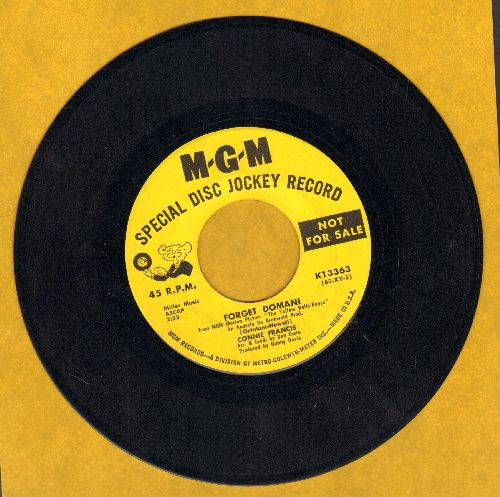 Francis, Connie - Forget Domani/No One Ever Sends Me Roses (DJ advance pressing) - EX8/ - 45 rpm Records
