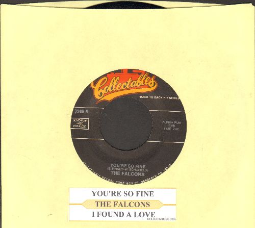 Falcons - You're So Fine/I Found A Love (double-hit re-issue with juke box label) - NM9/ - 45 rpm Records