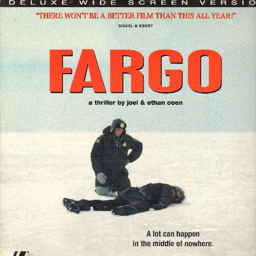 Fargo - Fargo - LASER DISC version of the Classic Crime Drama (This is a LASER DISC, not any other kind of media!) - NM9/NM9 - Laser Discs