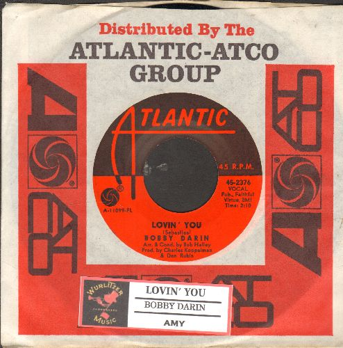 Darin, Bobby - Lovin' You/Amy (with juke box label and Atlantic company sleeve) - NM9/ - 45 rpm Records