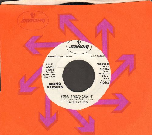 Young, Faron - Your Time's Comin' (double-A-sided DJ advance pressing with Mercury company sleeve) - NM9/ - 45 rpm Records