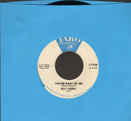 Farrell, Billy - You're Part Of Me/East Of The Sun - NM9/ - 45 rpm Records