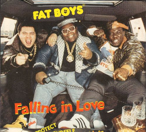 Fat Boys - Falling In Love/Protect Yourself & My Nurs (with picture sleeve) - NM9/NM9 - 45 rpm Records