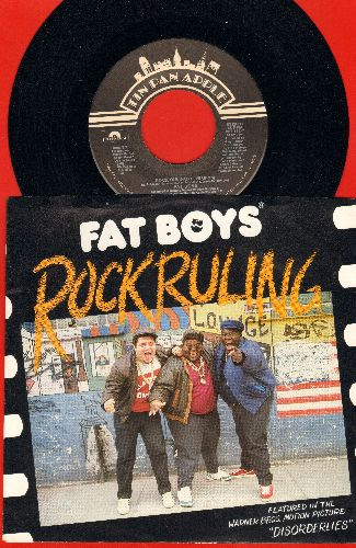 Fat Boys - Rock Ruling/Hell, No! (both songs featured in film -Disorderlies-) (with picture sleeve) - NM9/EX8 - 45 rpm Records