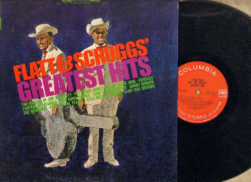 Flatt & Scruggs - Greatest Hits: The Ballad Of Jed Clampett, Petticoat Junction, Fireball, Earl's Breakdown, My Saro Jane (Vinyl STEREO LP record) - NM9/VG7 - LP Records