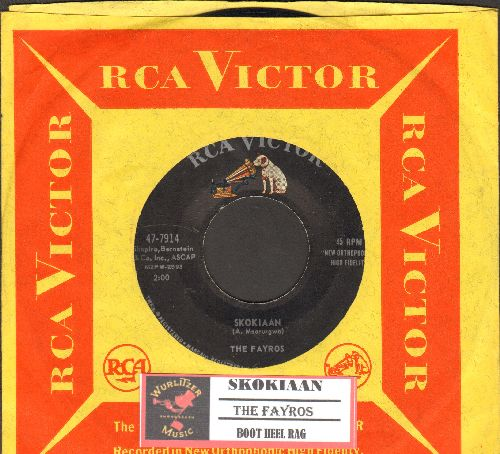Fayros - Skokiaan/Boot Heel Rag (with juke box label and vintage RCA company sleeve) - EX8/ - 45 rpm Records