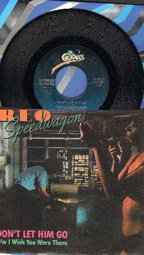 REO Speedwagon - Don't Let Him Go/I Wish You Were There (with picture sleeve) - EX8/VG7 - 45 rpm Records