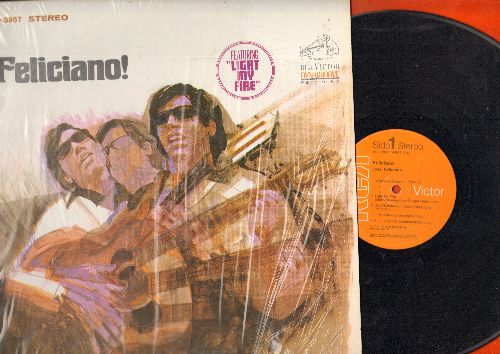 Feliciano, Jose - Feliciano/10 To 23:Amor Jibaro, Miss Otis Regrets, She's A Woman, Lady Madonna, Hey Jude, By The Time I Get To Phoenix (Vinyl STEREO LP record, shrink-wrap) - EX8/NM9 - LP Records