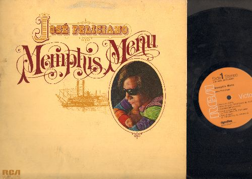 Feliciano, Jose - Memphis Menu: Magnolia, River Song, Tale Of Maria, Lay Lady Lay, Movin' (Vinyl STEREO LP record, gate-fold cover) - EX8/VG7 - LP Records