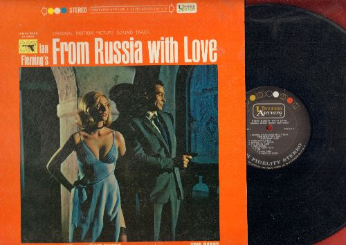 From Russia With Love - From Russia With Love - Original Motion Picture Sound Track featuring score by John Barry and title song by Matt Monro (Vinyl STEREO LP record) - NM9/EX8 - LP Records