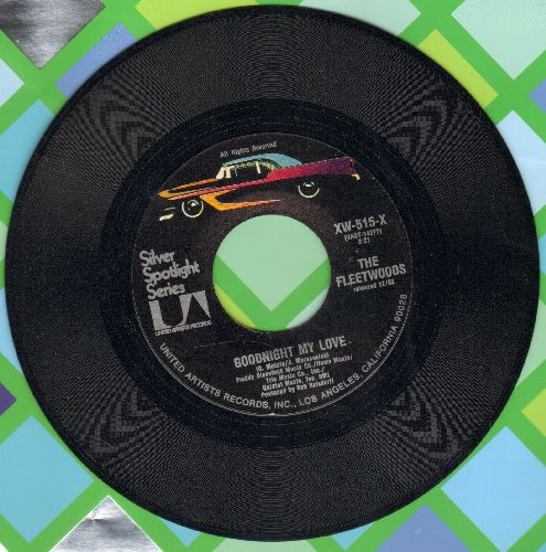 Fleetwoods - Goodnight My Love/He's The Great Imposter (double-hit re-issue) - NM9/ - 45 rpm Records