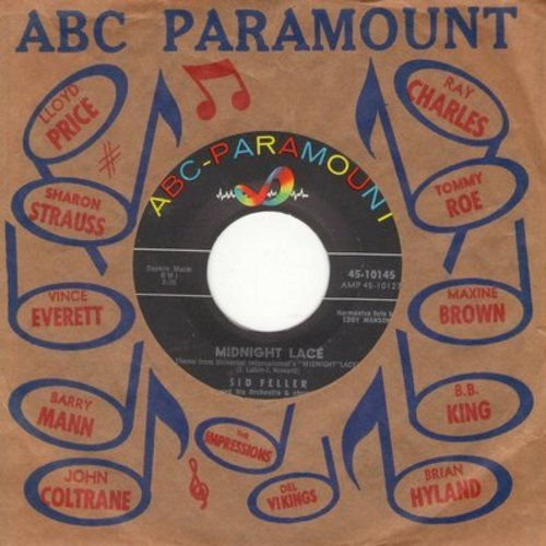 Feller, Sid & His Orchestra & Chorus - Midnight Lace/Isle Of Samoa (with ABC-Paramount company sleeve) - NM9/ - 45 rpm Records