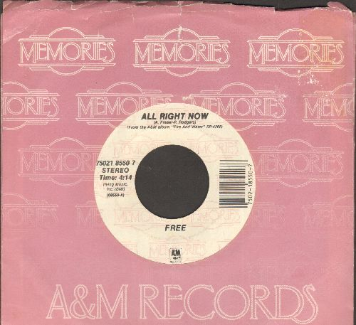 Free - All Right Now/The Stealer (double-hit re-issue with juke box label and company sleeve) - NM9/ - 45 rpm Records