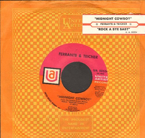 Ferrante & Teicher - Midnight Cowboy/Rock-A-Bye Baby (with juke box label and company sleeve) - EX8/ - 45 rpm Records