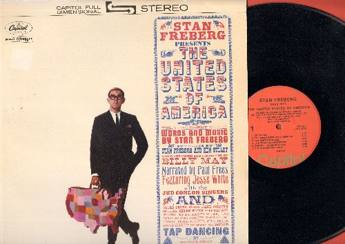 Freberg, Stan - Stan Freberg Presents The United States Of America - One of the Classic Novelty/Satire Artists with some of his best patriotic material. (Vinyl STEREO LP record, 1970s pressing) - NM9/NM9 - LP Records