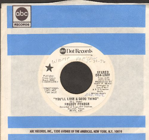 Fender, Freddy - You'll Lose A Good Thing (double-hit re-issue with ABC compaany sleeve)(wol) - NM9/ - 45 rpm Records