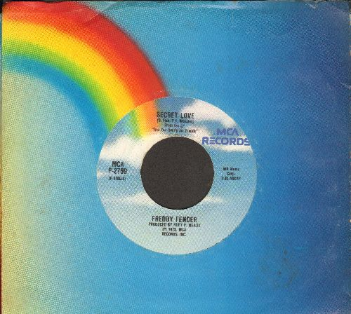 Fender, Freddy - Secret Love/Wasted Days And Wasted Nights (double-hit re-issue with MCA company sleeve) - EX8/ - 45 rpm Records
