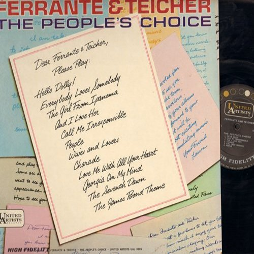 Ferrante & Teicher - The People's Choice: James Bond Theme, Hello Dolly, People, Girl From Ipanema, Georgia On My Mind (Vinyl MONO LP record) - EX8/NM9 - LP Records