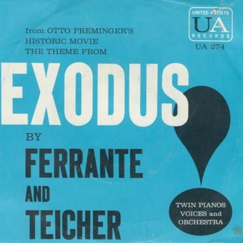 Ferrante & Teicher - Exodus/Twilight (with picture sleeve) - NM9/VG7 - 45 rpm Records