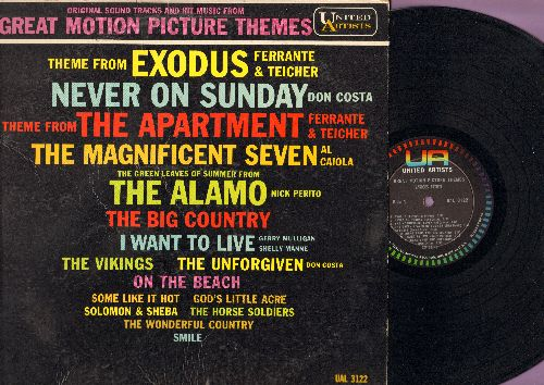 Ferrante & Teicher, Al Caiola, Don Costa, others - Great Motion Picture Themes: The Magnificent Seven, The Big Country, The Vikings, Exodus, Never On Sunday, Smile (Vinyl MONO LP record) - NM9/VG7 - LP Records
