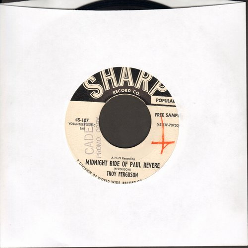 Ferguson - Midnight Ride Of Paul Revere/Should I Get Wise (DJ advance pressing) (wol) - EX8/ - 45 rpm Records