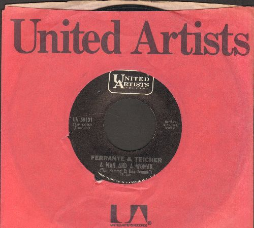 Ferrante & Teicher - A Man And A Woman (Un Homme Ey Une Femme)/Dark Eyes (with United Artists company sleeve) - NM9/ - 45 rpm Records