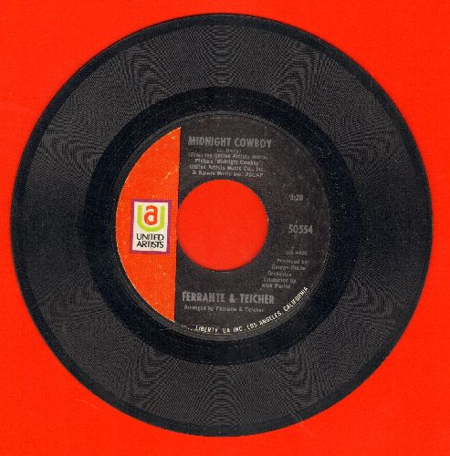 Ferrante & Teicher - Midnight Cowboy/Rock-A-Bye Baby - EX8/ - 45 rpm Records