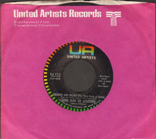 Ferrante & Teicher with their Orchestra & Chorus - Theme From -The Apartment-/Lonely Room (with United Artists company sleeve) - NM9/ - 45 rpm Records