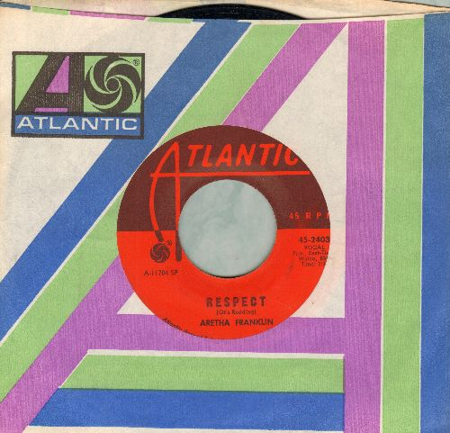 Franklin, Aretha - R-E-S-P-E-C-T (PARTY FAVORITE!)/Dr. Feelgood (with Atlantic company sleeve) - VG7/ - 45 rpm Records
