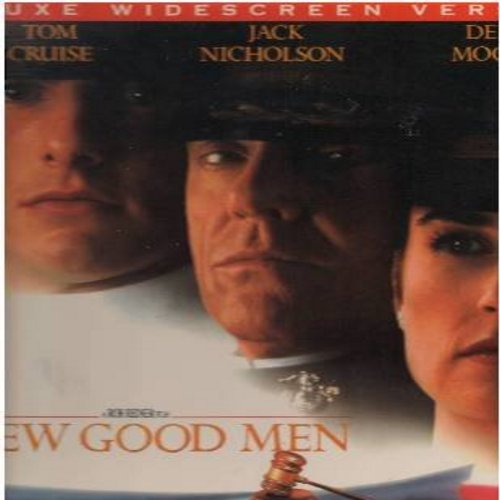 A Few Good Men - A Few Good Men -  2 LASERDISC VERSIONS set, DELUXE WIDESCREEN VERSION in gate-fold cover, Tom Cruise, Demi Moore and Jack Nicholson - NM9/EX8 - LaserDiscs
