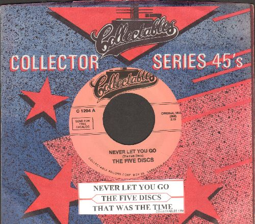 Five Discs - Never Let You Go/That Was The Time (doube-hit re-issue with company sleeve and juke box label) - NM9/ - 45 rpm Records