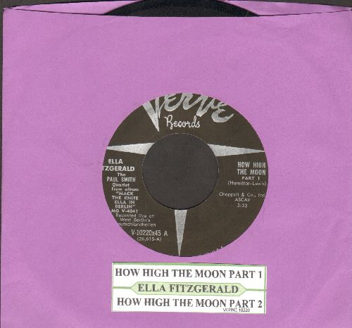 Fitzgerald, Ella - How High The Moon (Parts 1 + 2)(with juke box label) - NM9/ - 45 rpm Records